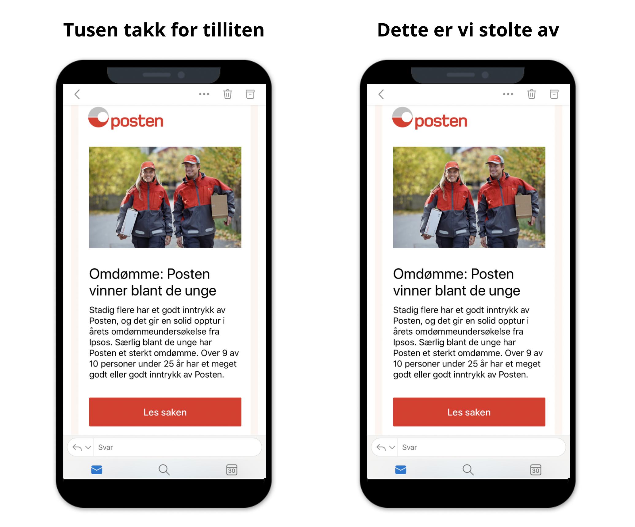 Posten Screenshots